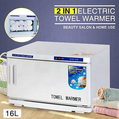 16L UV Towel Sterilizer Warmer Cabinet Salon Disinfection Heater Facial Beauty K