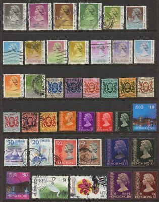 Hong Kong Collection of 40 x Different Stamps - Some higher Values  VFU
