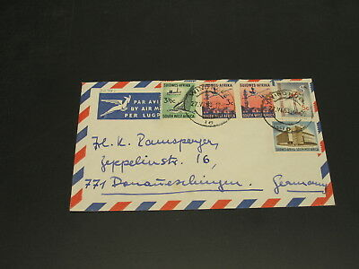 South West Africa SWA 1963 airmail cover to Germany *22481