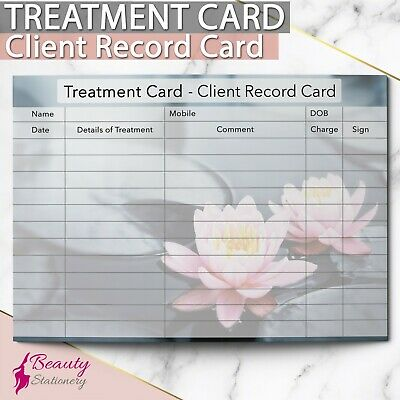 Additional Client Treatment Record Card NEW - PREMIUM Consultation Beauty A6