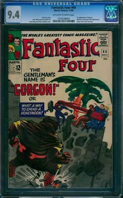 Fantastic Four # 44  1st app. Gorgon of the Inhumans !  CGC 9.4 scarce book !