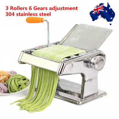 Pasta Noodle Maker Machine Cutter Roller Fresh Spaghetti Shape Thickness Setting