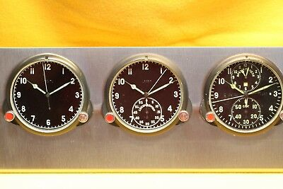 UDSSR, CCCP,  BORDUHREN,6 St.,U-BOOT-UHR,RUSSIAN AIRCRAFT BOARD CLOCK,