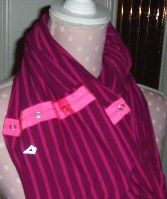 Ivivva by Lululemon Purple/Pink Striped Infinity Scarf with Snaps, EC