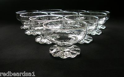 Set 10 Glass Footed Dessert Sweet Bowls