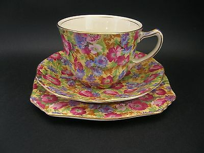 Royal Winton Grimwades Royalty Chintz Vintage English China Trio c1930s