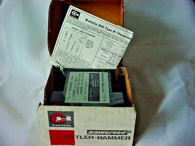 "Cutler Hammer Type R ""Powereed"" Relay D40RB Series A1 Made in USA NIB"