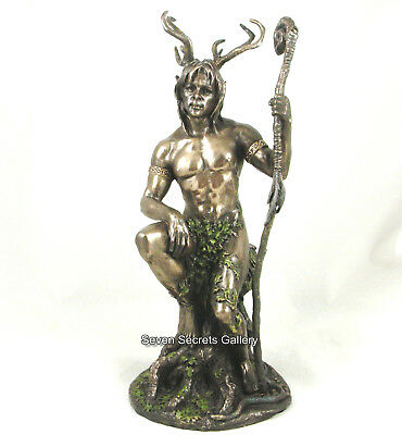 Herne the Hunter Figure Pagan Statue Pagan Lord of the Forest Male Figurine 4000