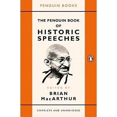 The Penguin Book of Historic Speeches - Paperback NEW Macarthur, Edit 04/10/2017