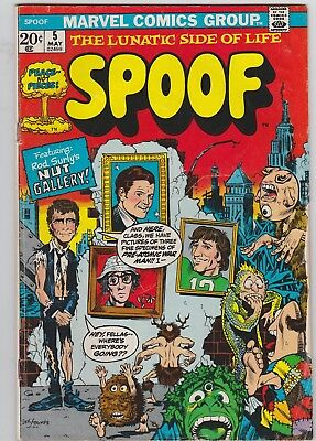 MARVEL 'SPOOF' 1972 Comic Book VOL.1 #5 Twilight Zone with Kennedy, Woody Allen