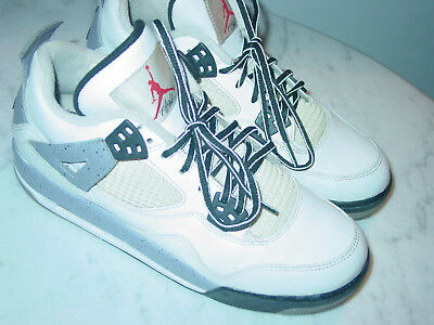 "2011 Nike Air Jordan Retro 4 ""2012 Release"" White/Cement Grey Shoes! Size 6.5Y"