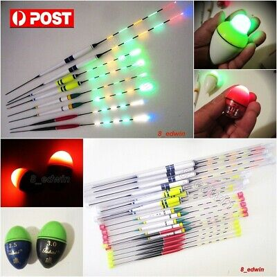 8 type LED Luminously Electronic Night Fishing Floats + Battery, Local shipping!
