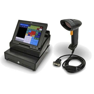 Royal TS1200MW Touchscreen Cash Register with LCD Screen + Barcode Laser Scanner