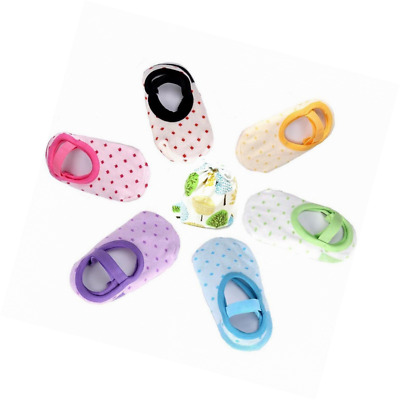 6 Pairs Cute Anti Slip Baby Socks for 8-36 Months Girl Toddler No-Show Crew Boat