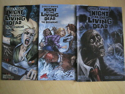 GEORGE A ROMERO'S NIGHT of the LIVING DEAD, The BEGINNING #s 1,2,3. AVATAR 2006
