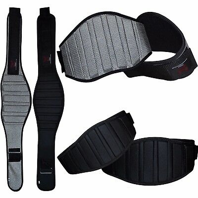 BooM Pro Weight Lifting Belt Gym Training Back Support Power Lumbar Pain Fitness