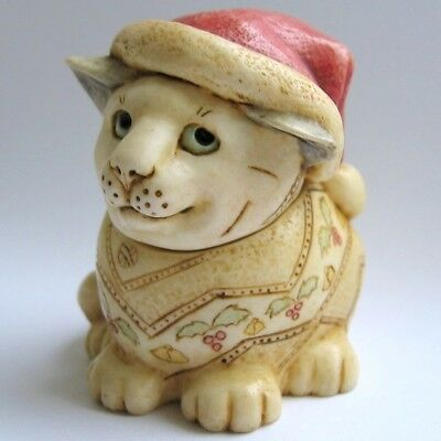 MPS Harmony Kingdom Pot Bellys Christmas Cat Small Box Figurine: December 1 Noel