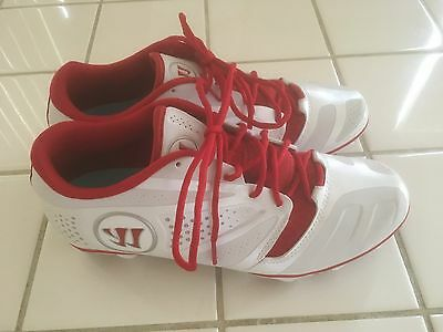Warrior Burn 7.0 Soccer Cleats. White/Red. Size 10.5. NWOB.