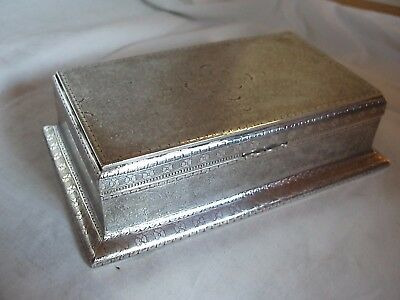 Middle Eastern Sterling Silver Box Circa 1920