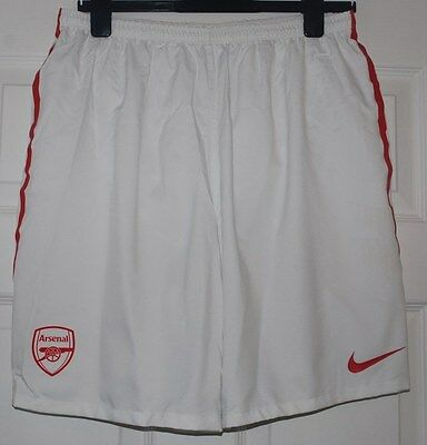 Arsenal Nike Player Issue White/red Home Shorts Xl 125Th Anniversary Year