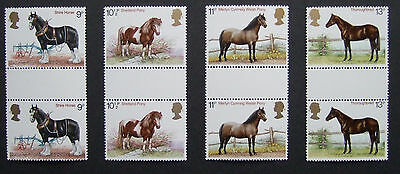 GB 1978 - Horses. Set of gutter pairs (SG1063-1066)