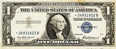 Rare  Series 1957   *star*  One Dollar Silver Certificate==Good Condition