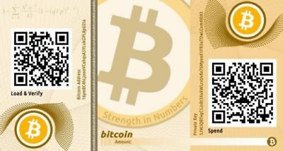 001 Bitcoin Paper Wallet All You Need To Receive And Spend Bitcoins 0.001BTC