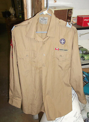 Scout Shirt With Many Canadian  Patches, In Vg Condition (Alc)