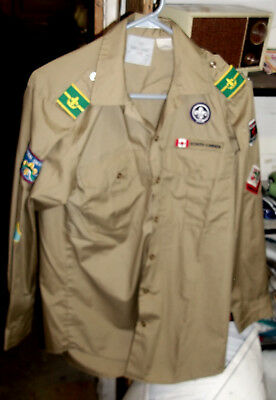 Other Scout Shirt With Many Canadian  Patches, In Vg Condition (Alc)