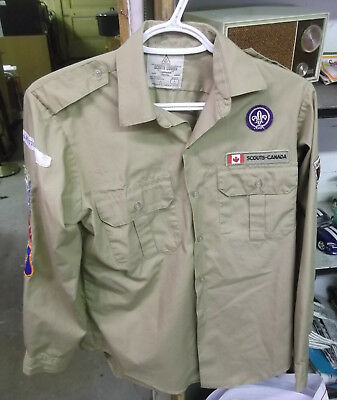 Scouts Patches From Canada On Shirt, In Vg Condition (Alc)