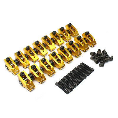 Holden 253 304 308 1.6 Adjustable Aluminum Pedestals Roller Rocker Arm Set