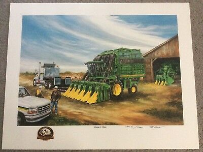 """JOHN DEERE """"CONTINUING THE TRADITION"""" PRINT Picture Cotton Picker LIMITED 1999"""