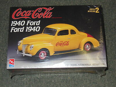 Coca Cola Amt Model Kit 1940 Ford Coupe 1/25 Scale Factory Sealed