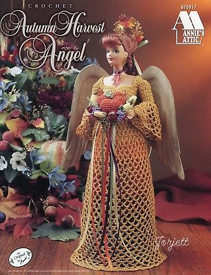 AUTUMN HARVEST ANGEL, Annie\'s crochet patterns fit Barbie fashion ...