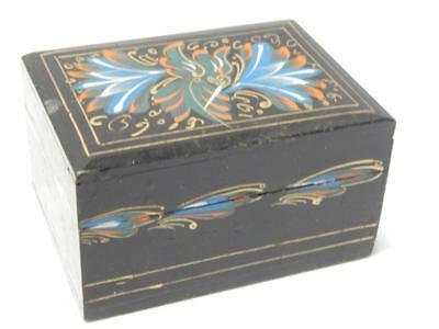 Vintage Mexican Olinala Painted Wood Lidded Box - Nice Example - Great Gift Nr