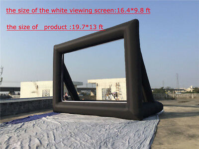 19.7*13ft Air Large Screen Outdoor Inflatable Advertising Screen  Movie Party