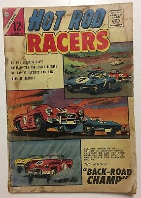 Hot Rod Racers #1 First Issue December 1964 Charlton Corvette 1962 Plymouth GD