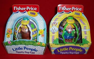 Fisher Price TIPPITY-TOP EGG Easter Little People Bunny & Eddie 1999 2000 NEW
