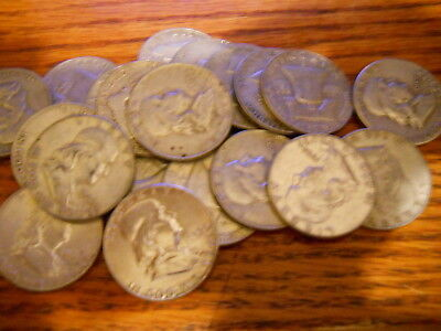 (20) Franklin Half Dollars Some Early Dates Nice 10$  Roll