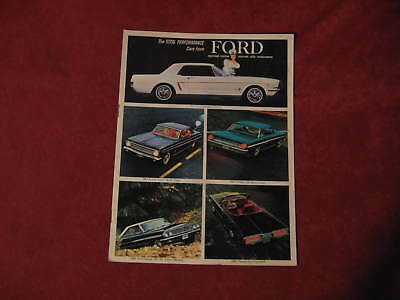 NOS 1964 Ford & Mustang Total Performance Showroom Brochure Booklet FOMOCO Old