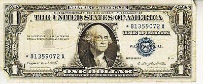 Series 1957 A  *star*    One Dollar Silver Certificate==Circulated Condition
