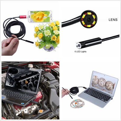 67° Wide Angle 2in1 7mm 5M 6LED Car Automobiles HD USB Android Endoscope Camera