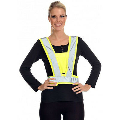 Equisafety Lightweight Body Unisex Safety Wear Reflective Harness - Yellow