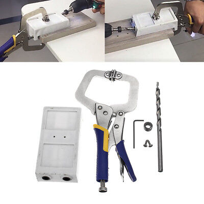 Pocket Hole Jig Kit Jr Bit Joinery System Manual Woodworking Tool Drill Guide
