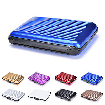 Waterproof Business ID Credit Card Wallet Holder Aluminum Metal Pocket Case Box.