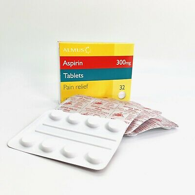 32 Aspirin 300mg For Headaches, Migraine Pain Relief, Joint Back & Muscle Aches
