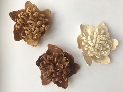 Imitation of leather decorative flower craft embelishment 7 cm diameter