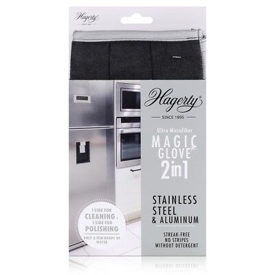 Hagerty Magic Glove 2in1 Stainless Steel - Mikrofaser-Handschuh (1er Pack)