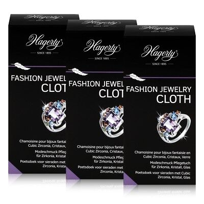 Hagerty Fashion Jewelry Cloth - Modeschmuck Pflegetuch 36x30cm (3er Pack)