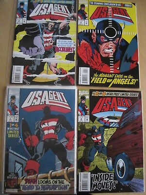U.S. AGENT : COMPLETE 4 issue SERIES. CAPTAIN AMERICA. MARVEL. 1993